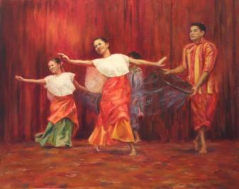 McLaren-EG- Pasigan - Dance of Pasig River- 24x30- oils sf