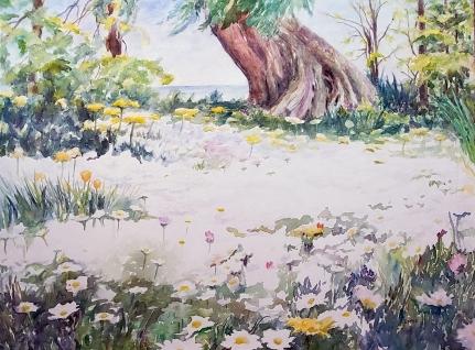 McLaren,EG,White Carpet,36x48,wc on canvas